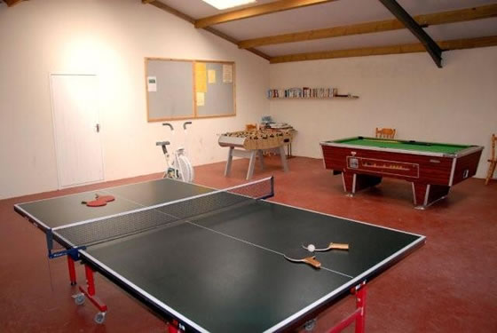 The refurbished games room