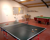 The newly refurbished and enlarged games room