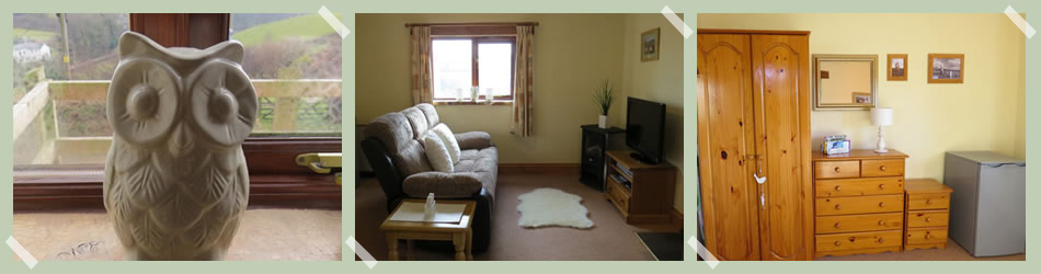 It is open plan with a comfortable living room, dining area and a fully equipped fitted kitchen.